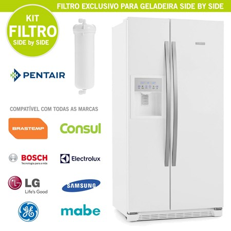 Kit Filtro p/ Geladeira Side by Side - Todas as Marcas