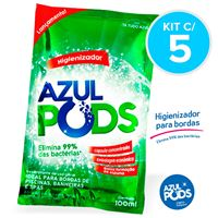 Higienizador AZULPODS 100ml - Kit c/ 5