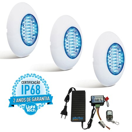 Kit 3 Easy Led 70 Color com Fonte e Controle Remoto - Pedido Especial