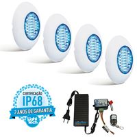 Kit 4 Easy Led 70 Color com Fonte e Controle Remoto - Light Tech