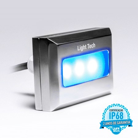 Tiny Led Colorido Retangular Inox 9W - Light Tech